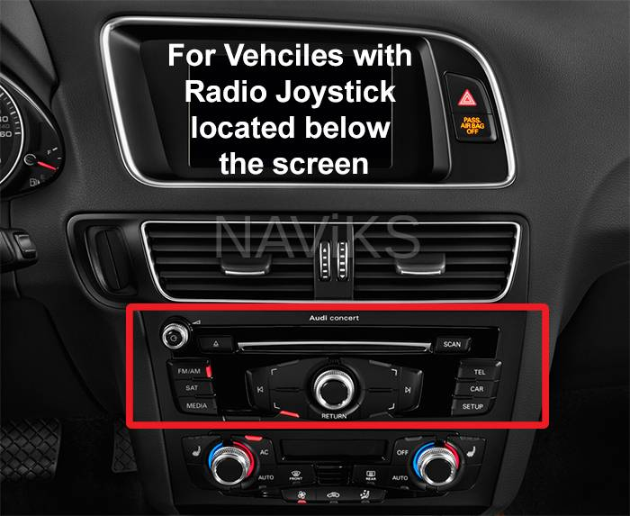2009 - 2016 Audi A4 (8K) (Concert) Apple CarPlay / Android Auto