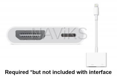 Apple AV Digital Adapter #MD826 (Sold Separately)