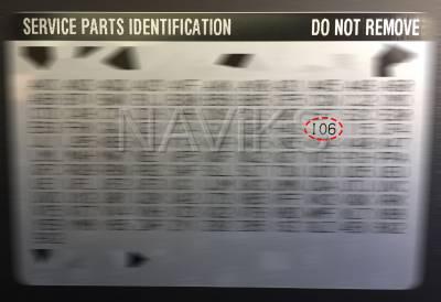 RPO - Service Parts Information - IO6
