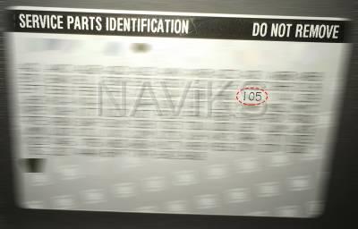 RPO - Service Parts Information - IO5